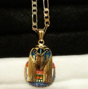 """Other - KAYNE WEST Horus Pendant & 24"""" Figaro Necklace"""
